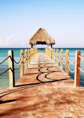 Peaceful Pier: Dominican Republic