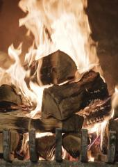 Rustic Fireplace: Laurentians