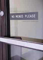 No Menus Please