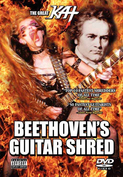 "5th Symphony"" - Metal version of the world's most famous symphony; ""The Flight of the Bumble-Bee"" at the finger-bleeding speed of 300 BPM!; Bach's ""Brandenburg Concerto #3""- The Great Kat shreds on 6 guitars; Paganini's ""Caprice #24"" - Technically demanding virtuoso showpiece on guitar and violin; ""Torture Techniques - Great Kat - Beethoven's Guitar Shred"